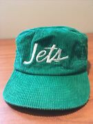 Vintage 80s Ny Jets Corduroy Hat Sports Specialties The Cord Nfl Rare