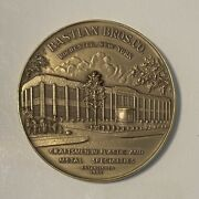 Vintage Advertising Bastian Bros Co Bronze Brass Medal Paperweight Rochester Ny