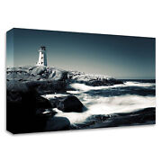 Tangletown Lighthouse Peggyand039s Cove By David W. Pollard On Canvas 8p1125dc-2115