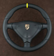 Porsche Custom Steering Wheel Thick+small+leather Srs S996 911 993 Turbo S Gt Rs