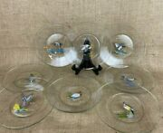 Set Of 8 Glass Ned Smith 8 Game Bird Plates
