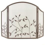 Pleasant Hearth Waverly 3-panel Fireplace Screen In Colonial Brown