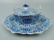 Antique Delft Blue And White Pottery Covered Butter Dish And Lid - A. Pieter Koch Pt