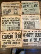 Qty=6 San Diego Evening Tribune Newspapers 1963 Jfk Lot Complete Papers