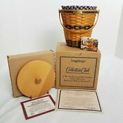 Longaberger Collector's Club Jw Collection Bankers Waste Basket Set-7th Edition