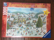 """New Ravensburger """"playful Christmas Day 1000 Piece Jigsaw Puzzle Limited 2019"""