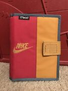 Rare Vintage 90s Nike Mead Mini Student Binder Planner Organizer 1994 Red Gold