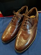 New Made In Usa Chicago Vtg Florsheim Imperial Wingtip Dress Shoes Brown 9.5 D M
