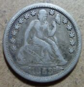 Full Liberty 1853-o Seated Liberty Dime New Orleans Silver A938