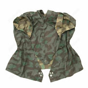 Wwii Ww2 German Army Splinter Camo Reversible Poncho Tent Zeltbahn 68and039and039 X 96