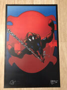 2012 Nyc Comic Con Spiderman Poster Chris Campana Signed 17x11