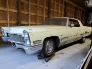 1968 Cadillac Calais Deville Coupe Project Parts Car Barn Find 472 Engine 500