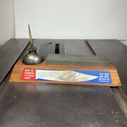 W.r. Case Sharpening Stone On Wood With Oil Tin Vintage