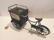 Dollhouse Miniature Metal Bicycle Ice Cream Cart By Cyr Colin And Yvonne Roberson