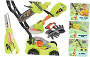 Cp Toys Power Garden Tools - Push Mower Chain Saw String Trimmer And Blower