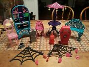 Monster High Furniture Lot - Everything In Picture Included