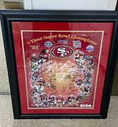 Sf 49ers Super Bowl Signed Autographed Framed 20x24 Photo Montana Rice + 36 More
