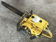 Vintage Mcculloch 250 Chainsaw For Parts Repair With Bar Chain Xxx