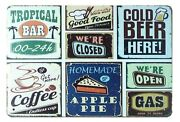 Stores To Outdoor Wall Art Bar Beer Coffee Pub Tin Metal Sign