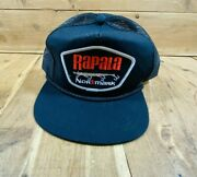 Vintage Rapala Normark Fishing Lure Patch Front Trucker Hat Rope Brim