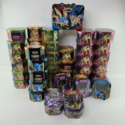 Pokemon Tcg Empty No Cards/no Games Lot Of 44 Tins And 1 Lunch Tin Box
