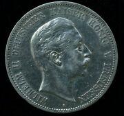 1902 Wilhelm Ii German 5 Mark Silver Large Coin 27.8 Gr 38mm - Great Condition