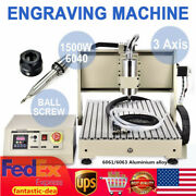 3 Axis 1.5kw Cnc 6040 Router Engraver 3d Pcb Cutting Milling Engraving Machine