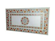 Carnelian Stone Marquetry Art Kitchen Table Top Marble Dining Table 30 X 60 Inch