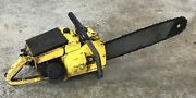 Vintage Collectible Mcculloch 1-42 Chainsaw With 18 Bar Xxx