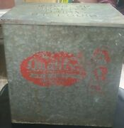 """Quality Dairy Products Metal Porch Cooler Box """"none Better"""" St Louis Mo"""