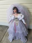 Rustie Collectible 2002 0072/1500 Extra Tall 42' Porcelain Bride Doll