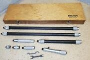 Mitutoyo No. 139-180 Inside Micrometer Set 4 To 52 W/ Protective Case 4 - 52