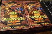 2x Marvel Monumental Overpower Card Game Factory Sealed Booster Pack Box Skybox