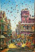 Flying Kites Asian Canvas 20x30 Inches Wall Art Picture