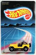 Hot Wheels Vintage Jeep Cj-7 3954 Never Removed From Package 1987 Yellow 164