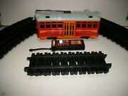 Disney Red Car Trolley Set W/ Horn And Announcement Sounds R/c Train Nice