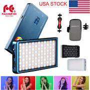 Falcon Eyes Magnetic Rgb Led Video Light+softbox Honeycomb Grid Dimmable Camera