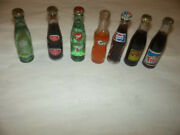 7 Miniature Dr Pepper Rc Pepsi 7up Crush More Small Tiny Soda Pop Bottles Look