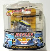 Vintage 2006 Air Hogs Reflex Yellow Micro R/c Helicopter 44208 New/sealed