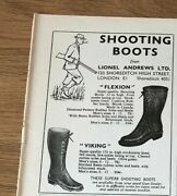 Stgun31 Advert5x4 Shooting Boots From Lionel Andrews Ltd, Flexion And Viking