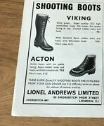 Stgun18 Advert5x4 Lionel Andrews Limited, 'viking' And 'acton' Shooting Boots