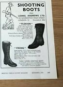 Stgun37 Advert5x4 Shooting Boots From Lionel Andrews Ltd, Flexion And Viking