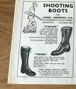 Stgun45 Advert5x4 Shooting Boots At Lionel Andrews Ltd, 'flexion' And 'viking'