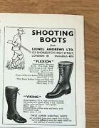 Stgun37 Advert5x4 Flexion And Viking Shooting Boots, From Lionel Andrews Ltd