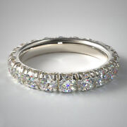 2.50 Carat Lab Grown Wedding Eternity Band 14k Solid White Gold Size 5 6.5 7.5