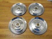Set Of 1953 Ford 15 Inch Wheel Covers Hubcaps