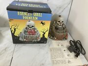 Haunted Skull Fountain Halloween Table Accent Fake Blood Party Decor W/ Box