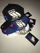 Ovo X Dsquared2 Distressed Sports Cap Trucker Hat Og Owl Embroidered Dsquared