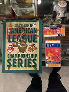 1997 Alcs Indians Orioles Program Ticket Stubs Clinching Game 1 And 6 Super Rare