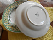 3 Villeroy And Boch French Garden Lattice 9 Rimmed Soup Pasta Bowl 1748